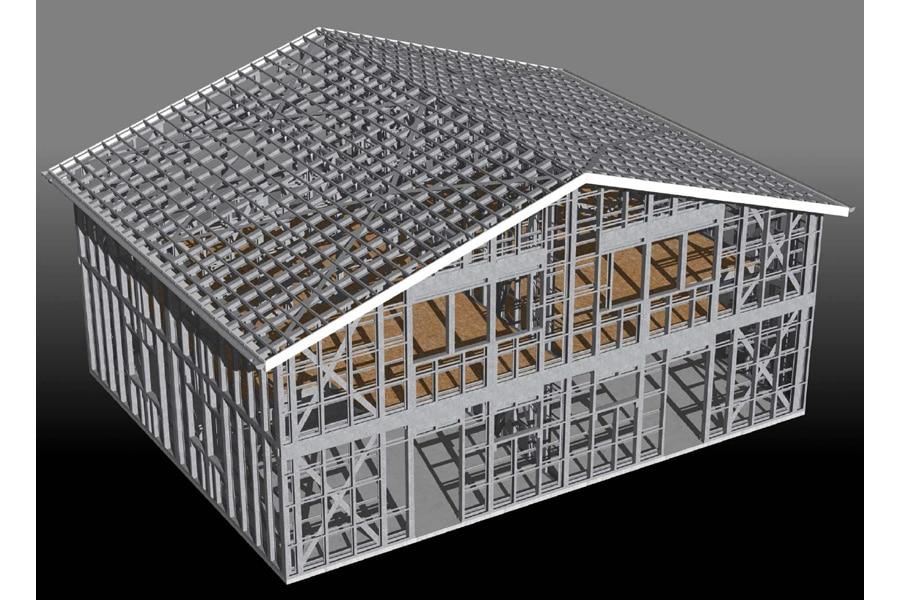 RT2012 et AMO Construction maison prototype ossature métallique