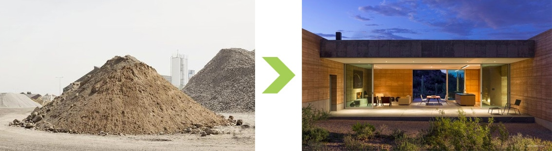 Maison individuelle en pisé - Tucson Arizona USA - DUST