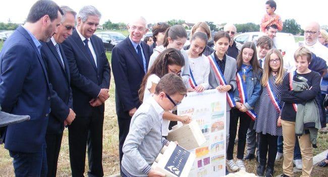 Première pierre du groupe scolaire Las Fonsès Photo DDM, O. D.