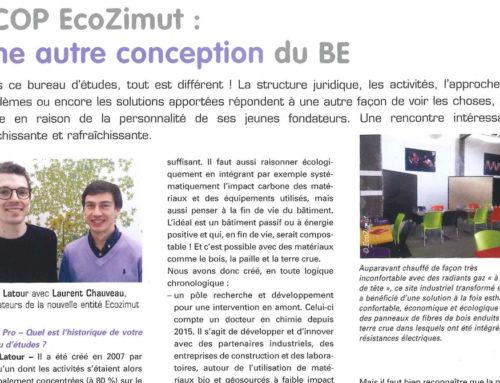 Interview d'Elian Latour dans le magazine FilierePro avril/mai