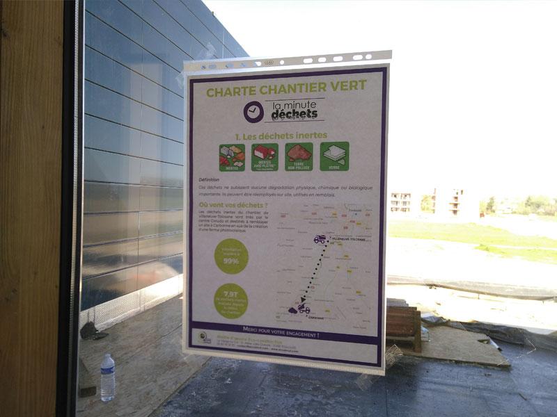 La minute déchets: signalétique chantier vert - Groupe scolaire Villeneuve Tolosane