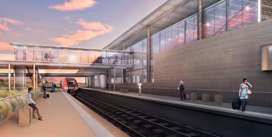 Construction de la gare TGV à NÎMES-MANDUEL (30)
