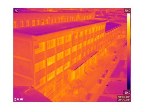 Thermographie aérienne : Bâtiments de bureaux La Banque Postale à TOULOUSE
