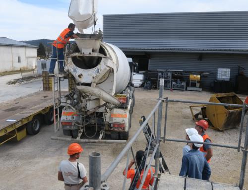 Construction terre pour le futur siège de Couserans Construction