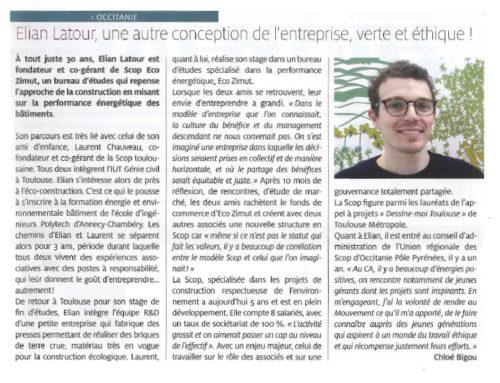 Interview d'Elian LATOUR dans «Participer, Magazine des sociétés coopératives»