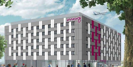 Construction de l'hôtel MOXY à Roissy