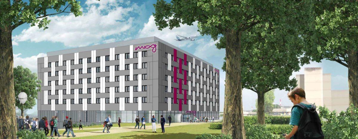 Construction de l'hôtel MOXY à Roissy (95)