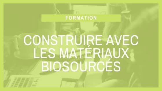Formation SCOP Ecozimut - Construire avec les materiaux biosourcés