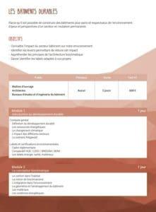 Formation SCOP Ecozimut - Les bâtiments durables
