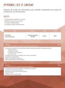 Formation SCOP Ecozimut - Appréhender l acte de construire