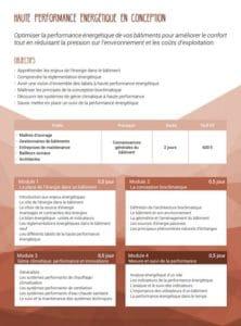 Formation SCOP Ecozimut - La haute performance énergétique en construction