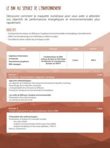 Formation SCOP Ecozimut - Le BIM au service de l environnement