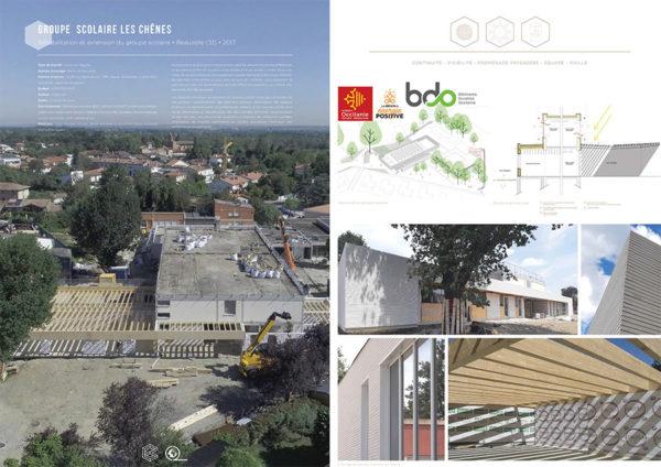 Projet commun SCOP Ecozimut et C+2B - Réhabilitation et extension du groupe scolaire Les Chênes à Beauzelle