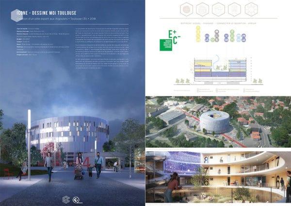 Projet commun SCOP Ecozimut et C+2B - Création d'un pôle de esport aux Argoulets à Toulouse