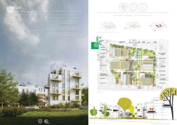 Projet commun SCOP Ecozimut et C+2B - 122 logements en construction bois, ilot S24, Saint Martin du Touch