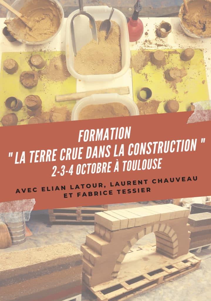 """Nouvelle session formation """"La terre crue dans la construction"""" du 2 au 4 octobre 2019 à Toulouse"""