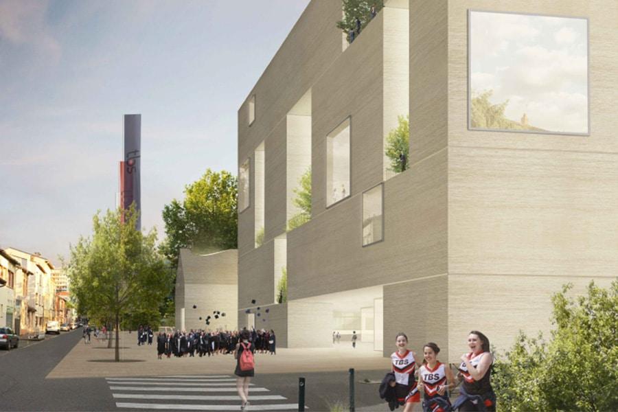 Reconstruction du campus de Toulouse Business School à Toulouse