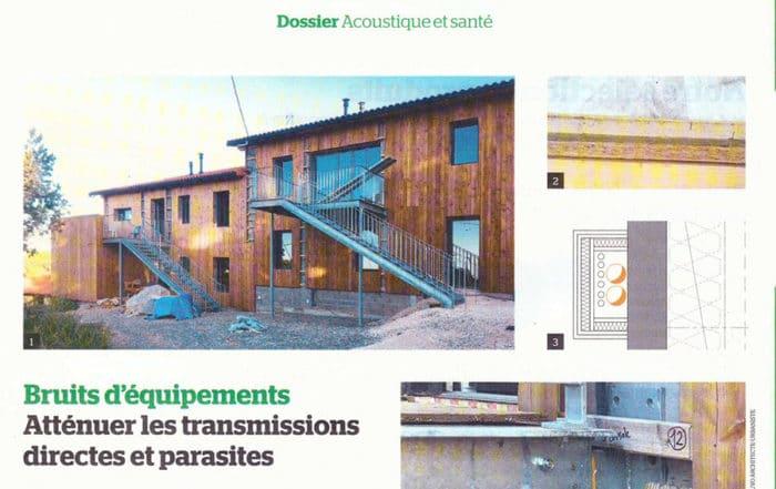 Article revue Le Moniteur projet d'habitat participatif Mas Coop